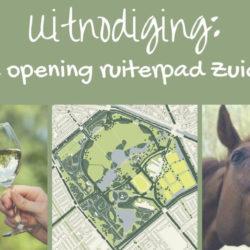 Uitnodiging officiële opening ruiterpad Zuiderpark