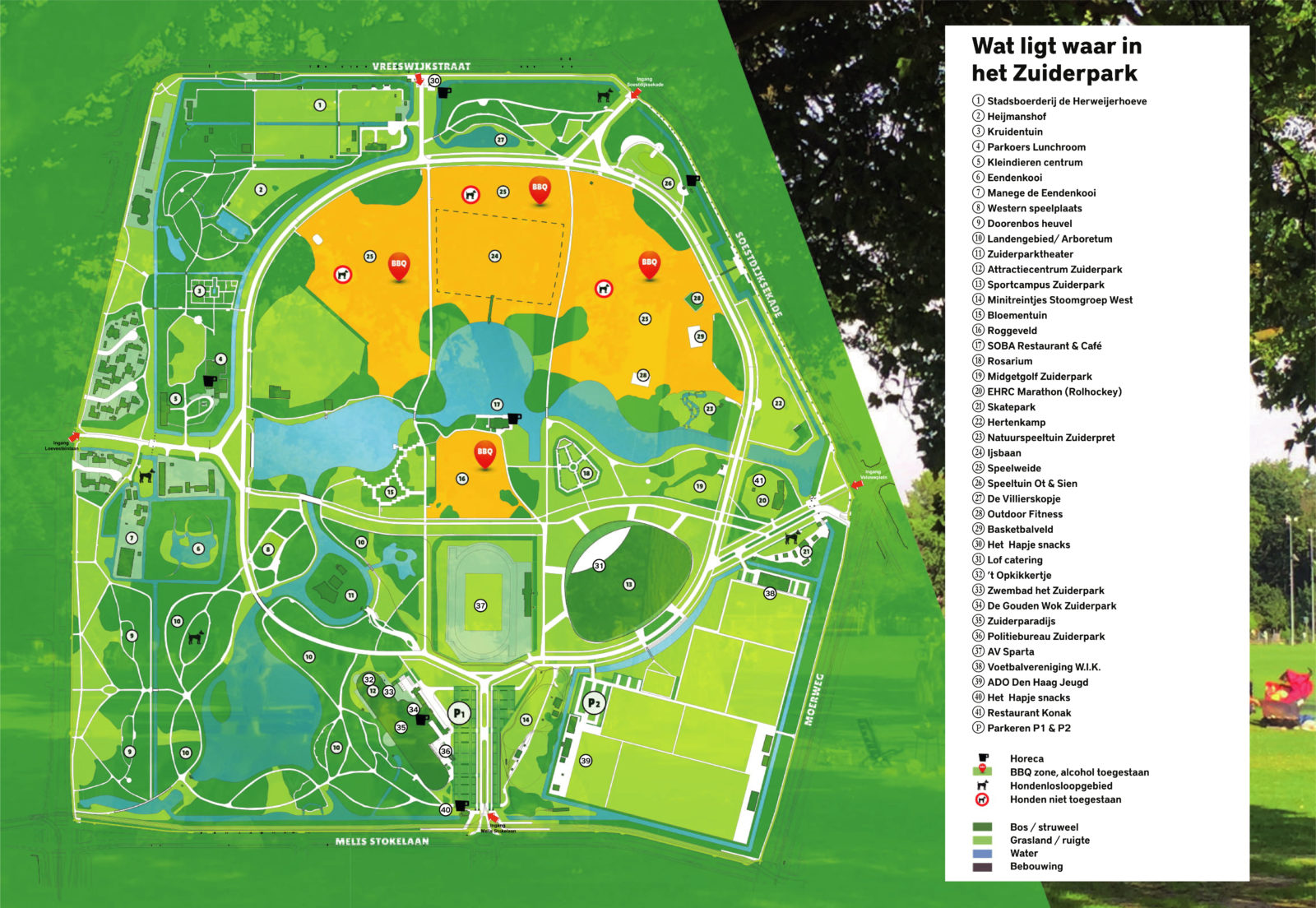 Plattegrond Zuiderpark Den Haag