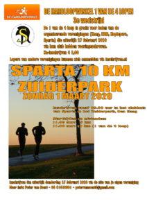 Sparta 10 km Zuiderpark @ Atletiek Vereniging Sparta