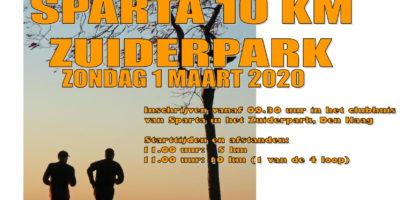 Inschrijven Sparta 10 km Zuiderpark