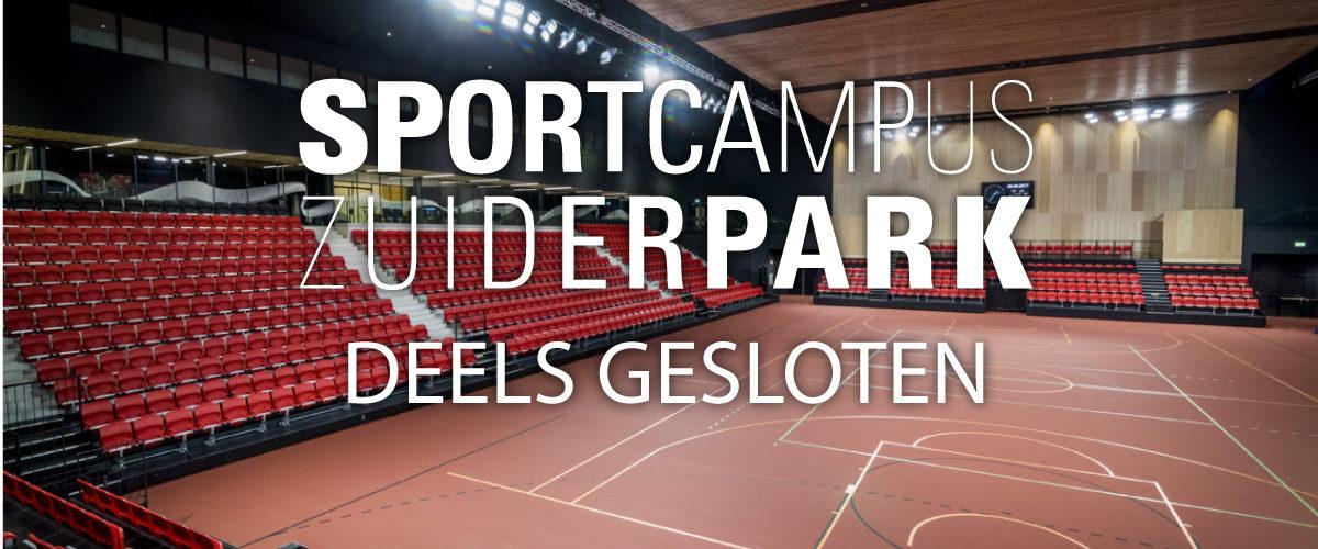 Sportcampus Zuiderpark deels gesloten