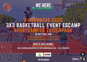 3x3 basketball event Escamp @ Sportcampus Zuiderpark
