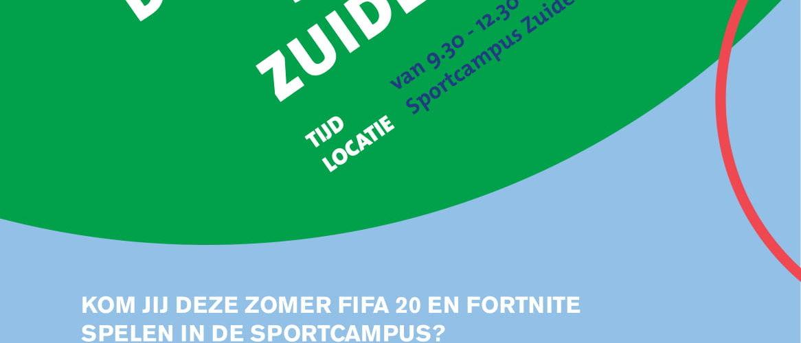 KOM JIJ DEZE ZOMER FIFA 20 EN FORTNITE SPELEN IN DE SPORTCAMPUS?